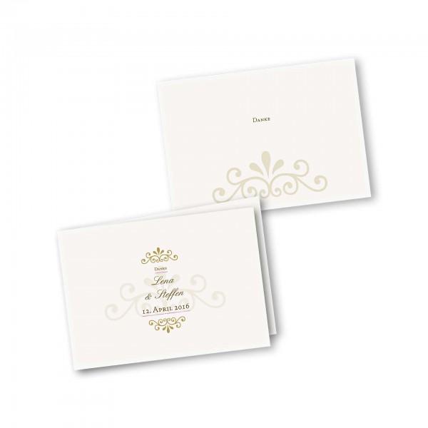 Danksagungskarte – 4-Seiter DIN-A5 Querformat Kartendesign Princess