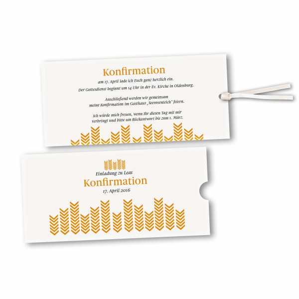 Schuberkarte - Kartendesign Lea