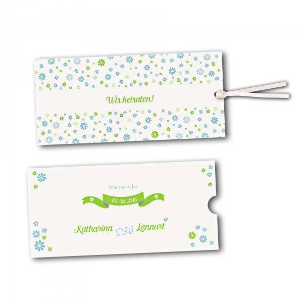 Schuberkarte - Kartendesign Verspielte Blumen