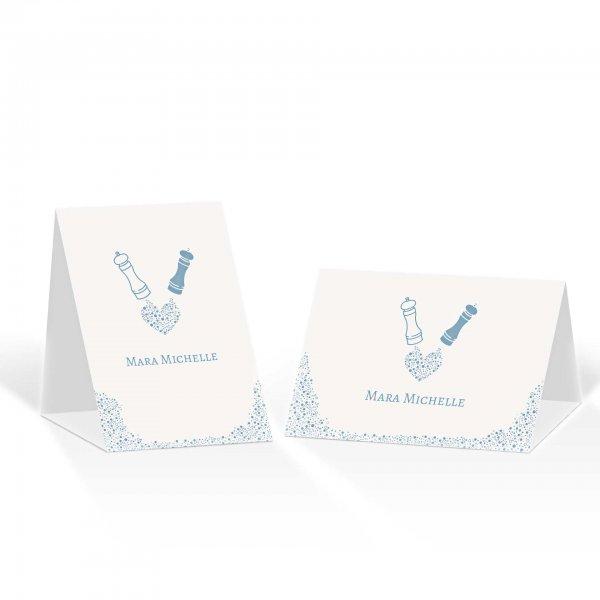 Platzkarte Aufsteller A6 – Kartendesign Wie Salz und Pfeffer Version 2