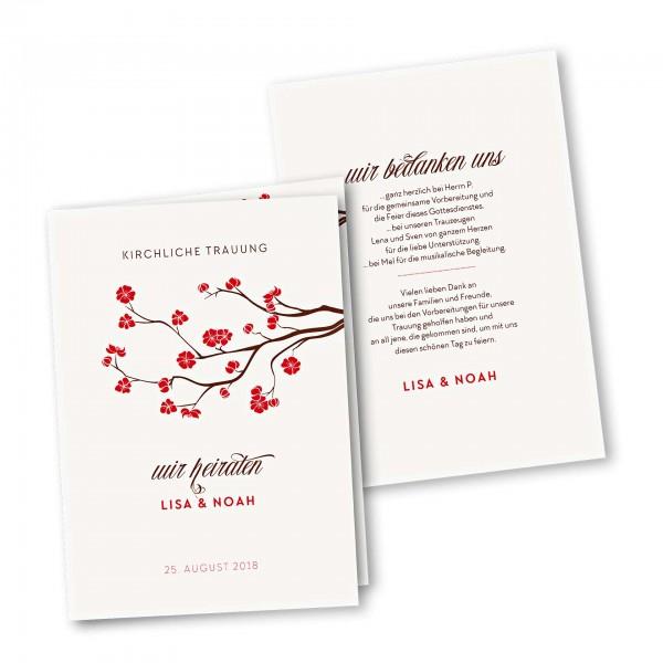 Kirchenheft 4 Seiter – Klappkarte DIN-A5 Kartendesign Baumblüte