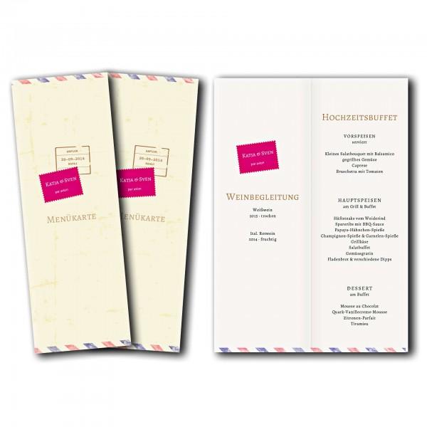 Menükarte – Kartendesign Liebesbrief Version 1