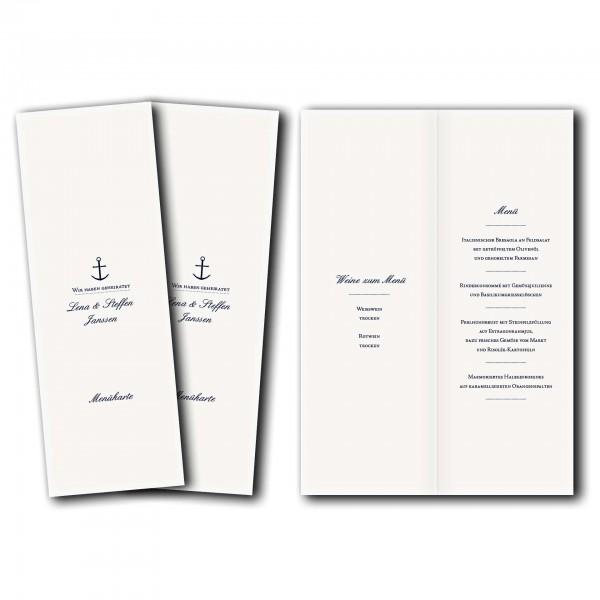 Menükarte – Kartendesign Maritim