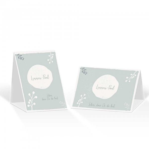 Platzkarte Aufsteller A6 – Kartendesign Retro Hochzeit