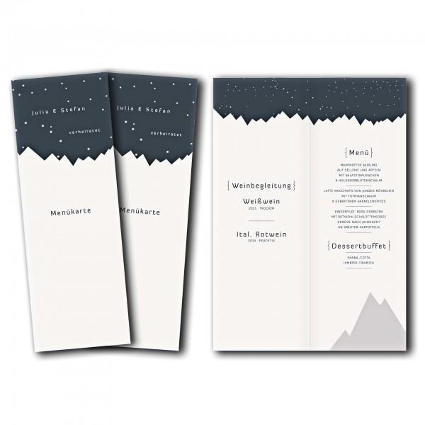 Menükarte – Kartendesign Bergknistern Version 1