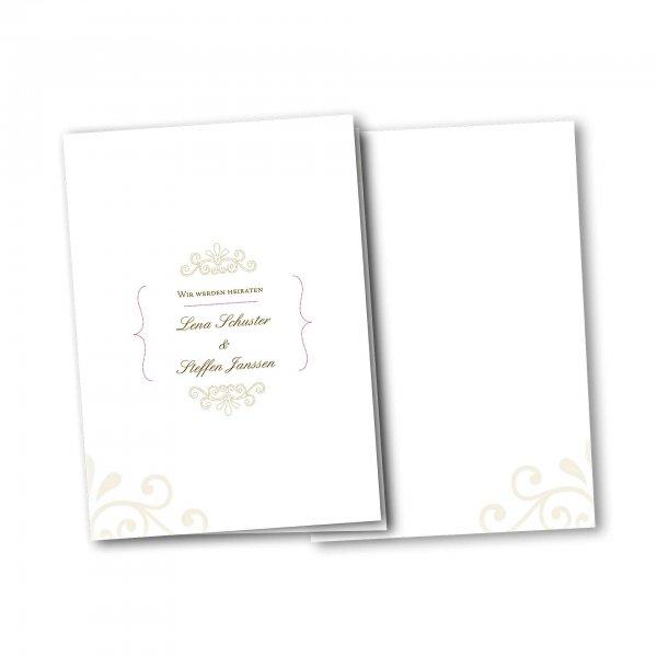 Einladungskarte – 4-Seiter DIN-A5 Kartendesign Princess