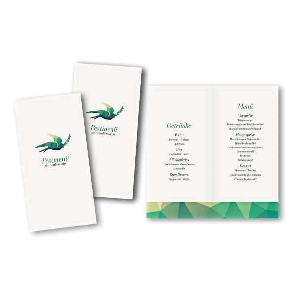 Menükarte DIN-lang - Kartendesign Julian