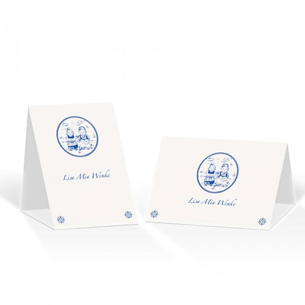 Platzkarte Aufsteller A6 – Kartendesign Tosammendoon