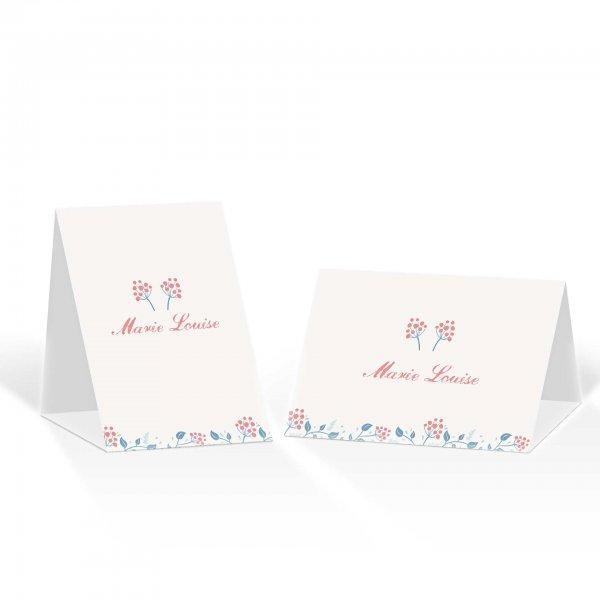 Platzkarte Aufsteller A6 – Kartendesign Moderne Blumenranken