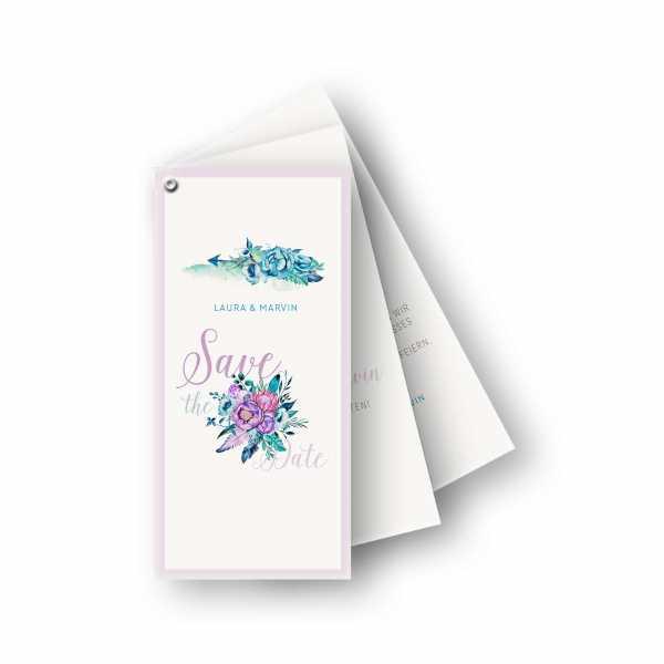 Einladungskarten U2013 Fächerkarte U2013 3 Blätter Fächerkarte In Der Größe DIN Lang  Hochformat Mit