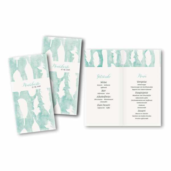 Menükarte DIN-lang - Kartendesign Sofie