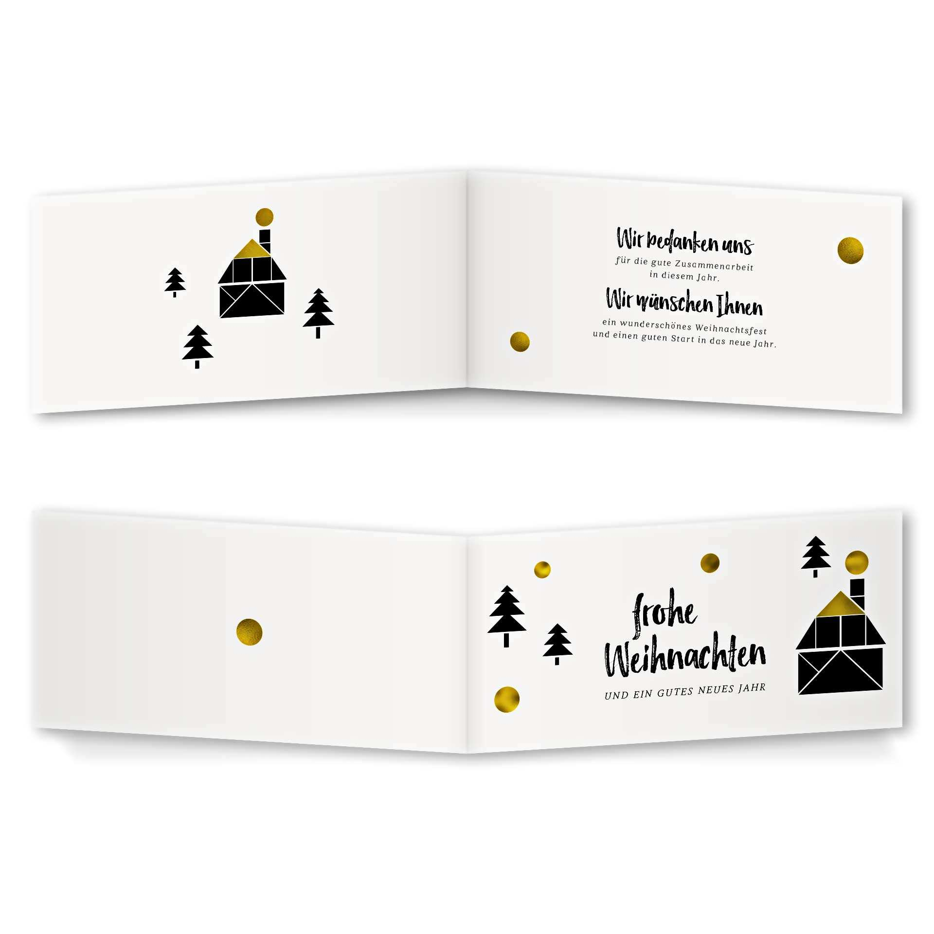 Weihnachtskarte - Klappkarte Rückenfalz Design Das ist das Haus vom ...