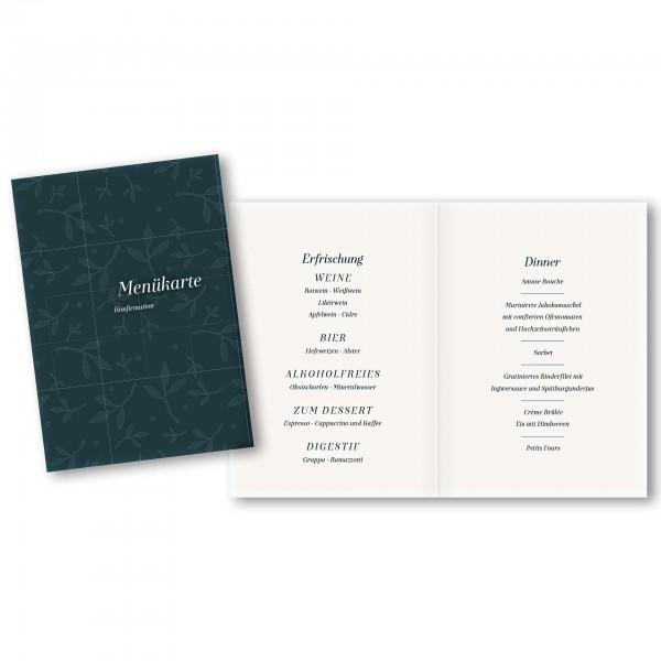 Menükarte DIN-A5 - Kartendesign Emma
