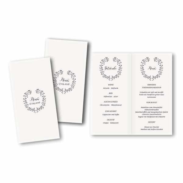 Menükarte DIN-lang - Kartendesign Alina