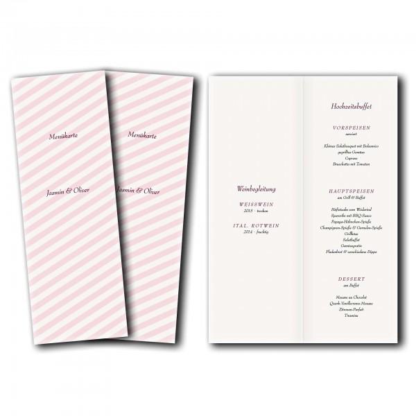Menükarte – Kartendesign süße Liebe
