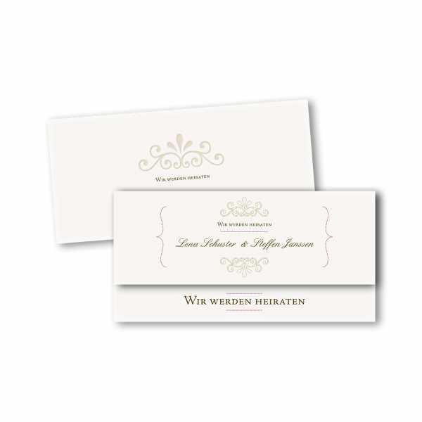 Einladungskarte – asymmetrische Klappkarte DIN-lang im Kartendesign Princess