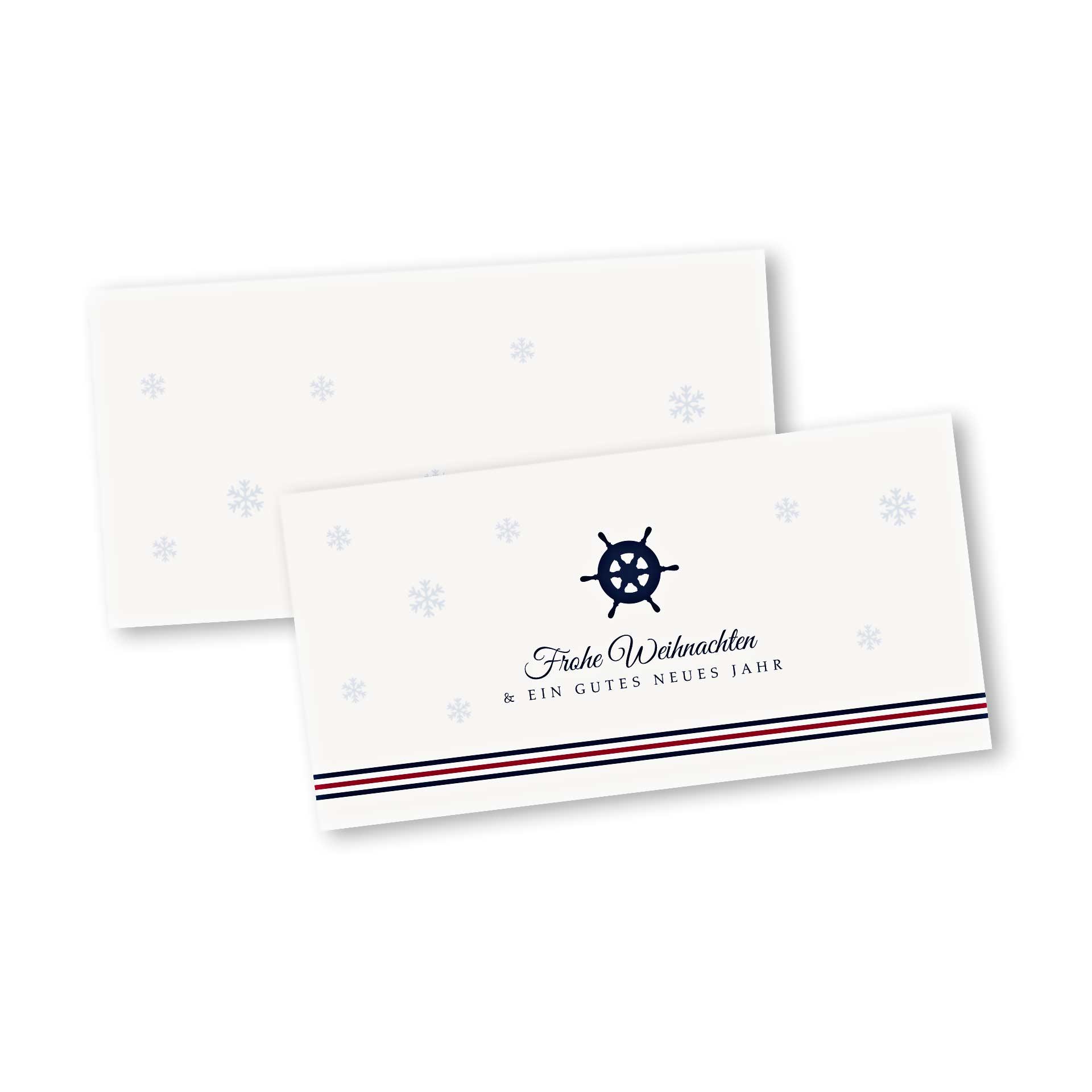 Weihnachtskarte klappkarte im design ahoi weihnachten - Niedliche weihnachtskarten ...