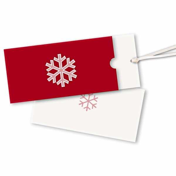 Weihnachtskarte – Schuberkarte DIN-lang mit Satinband Weihnachtskristall