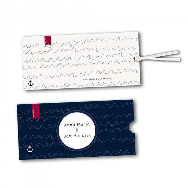 Schuberkarte - Kartendesign Maritime Hochzeitskarte mit Bullauge