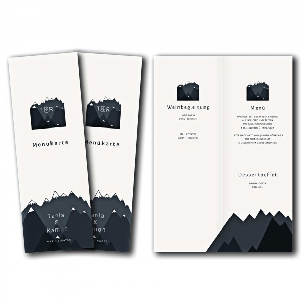 Menükarte – Kartendesign Bergknistern Version 2