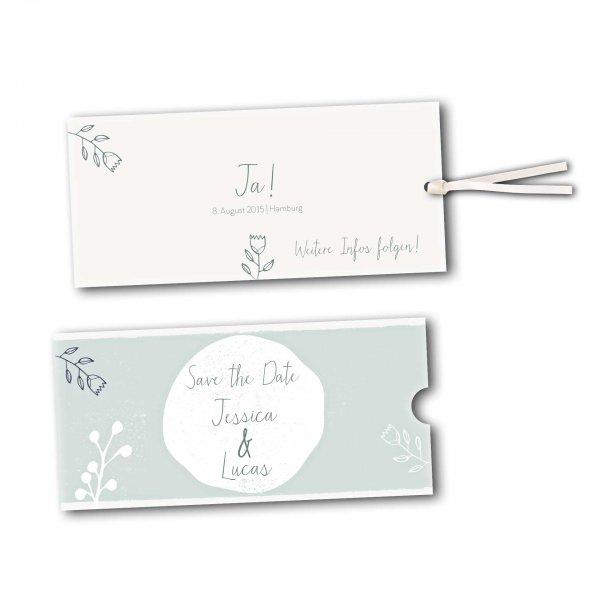 Schuberkarte - Kartendesign Retro Hochzeit