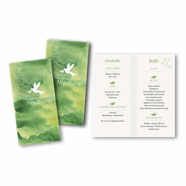 Menükarte DIN-lang - Kartendesign Celina