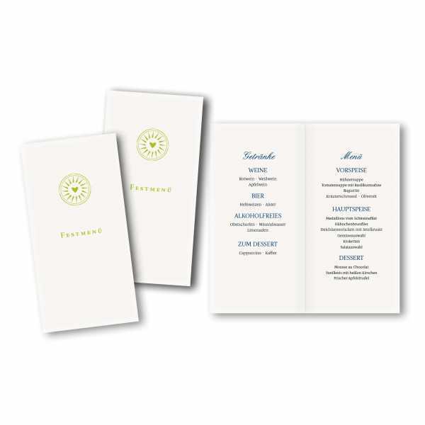Menükarte DIN-lang - Kartendesign Leonie