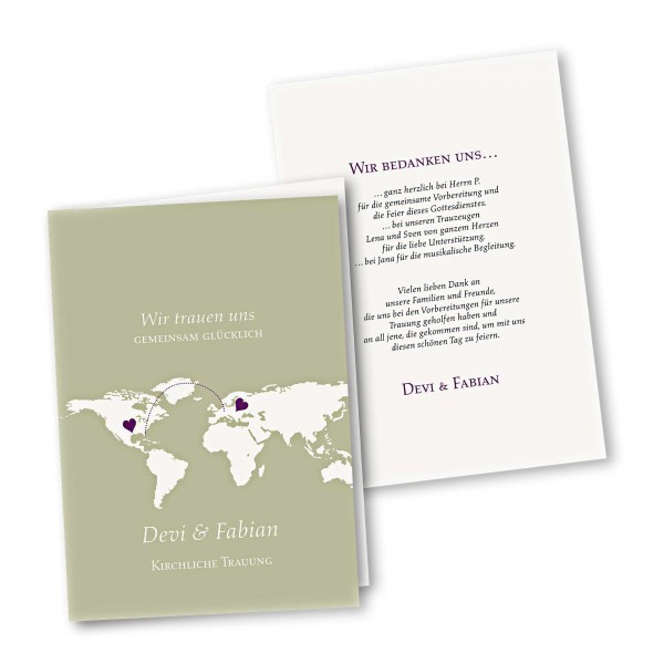 Kirchenheft 4 Seiter – Klappkarte DIN-A5 Kartendesign Herzentreffen Version 1