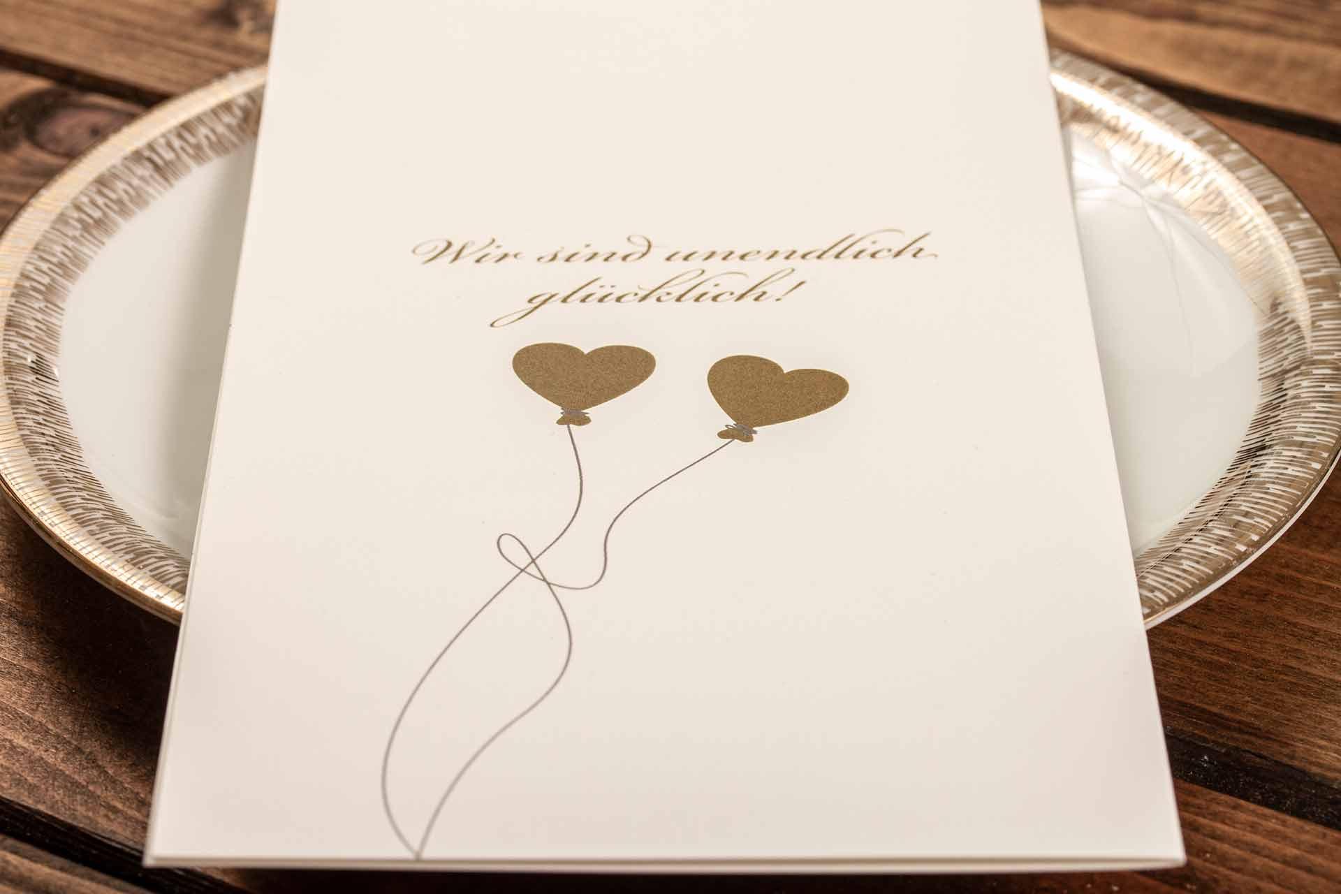 Einladungskarte für die goldene Hochzeit