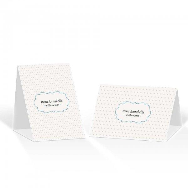 Platzkarte Aufsteller A6 – Kartendesign Schwärmerei Version 2