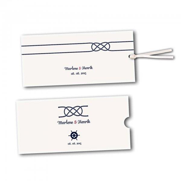 Schuberkarte - Kartendesign Kreuzknoten - Steuerrad zur Hochzeit
