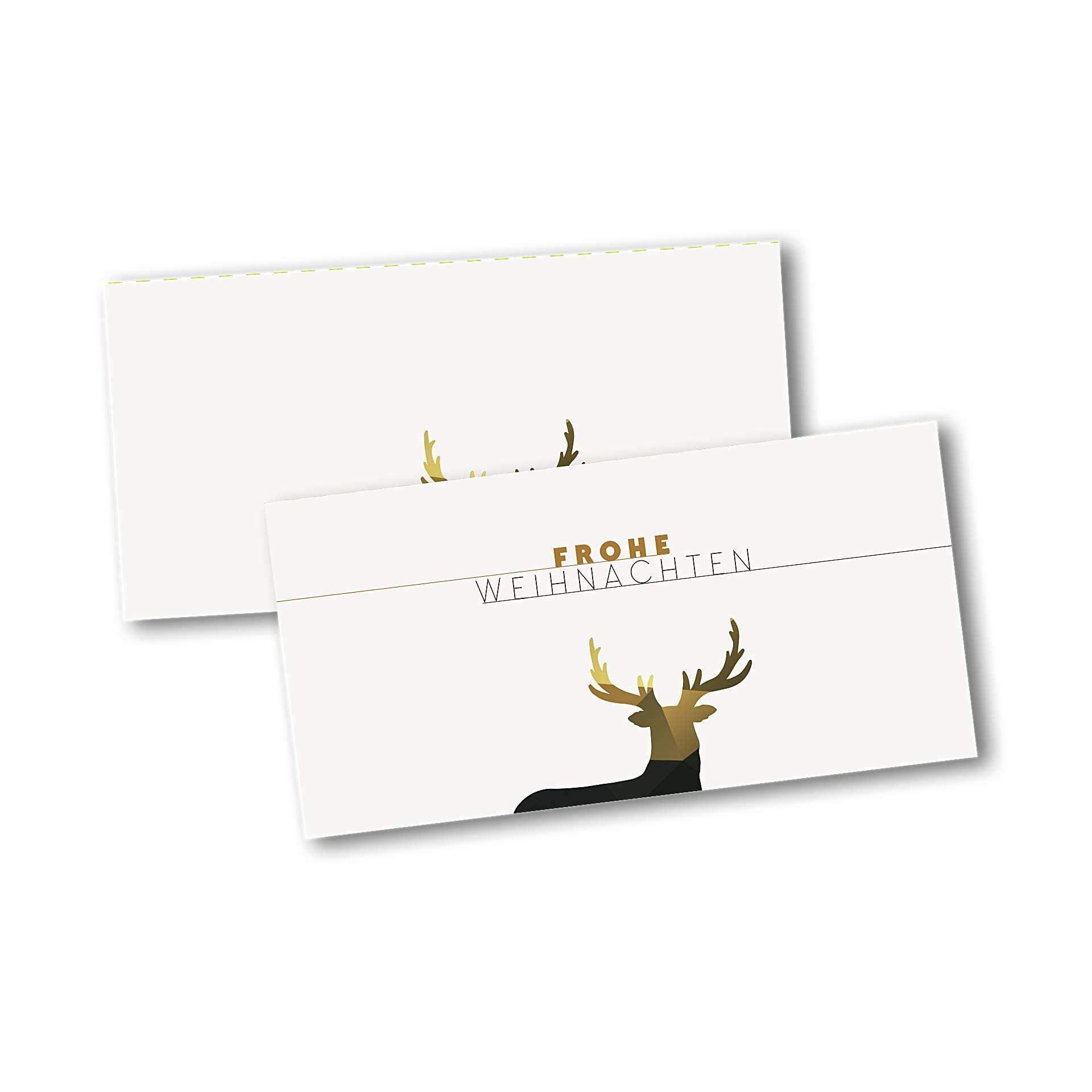 Weihnachtskarten Muster.Weihnachtskarten 4 Seiter Din Lang Querformat Mit Kopffalz Kartendesign Dezente Weihnachten Mit Muster