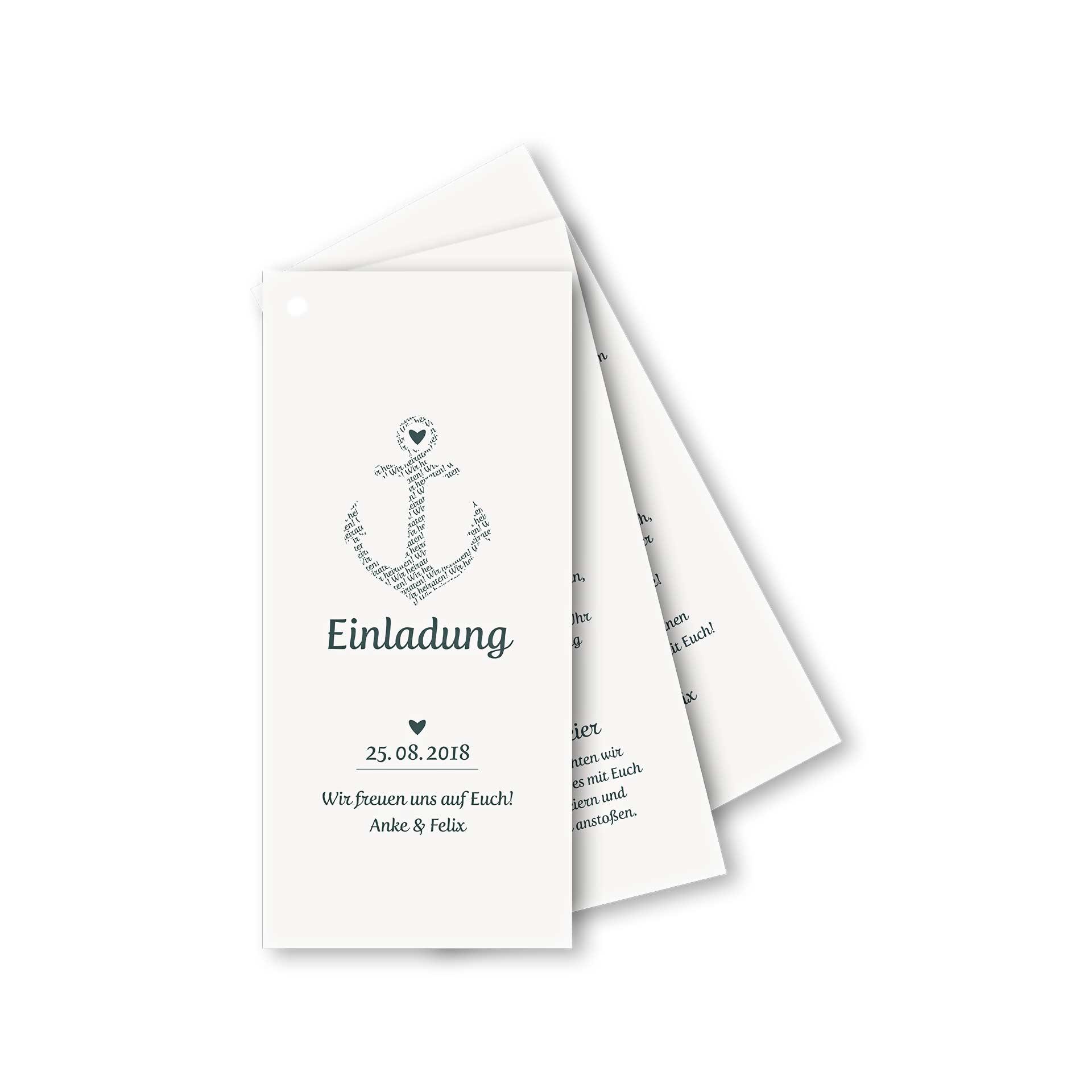 Einladungskarten Hochzeit Fächerkarte