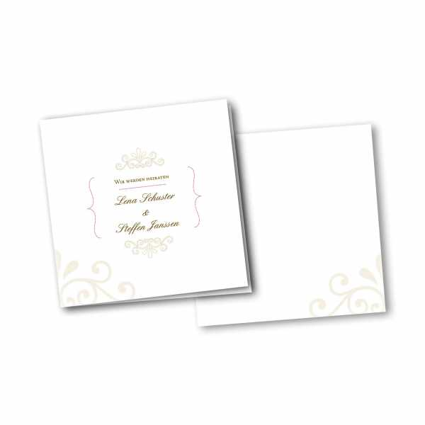 Einladungskarte – 4-Seiter quadratisch Kartendesign Princess