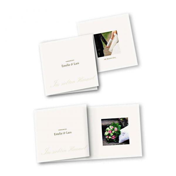 Danksagungskarte – 6-Seiter quadratisch Kartendesign Honeymoon