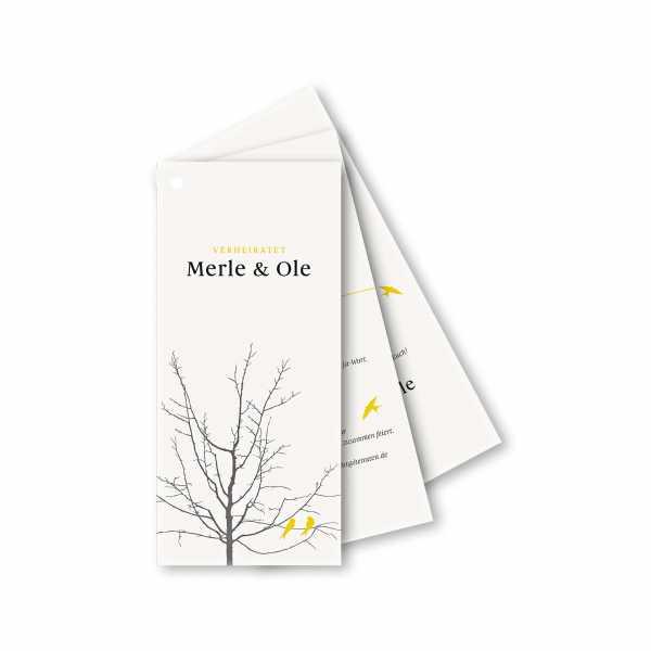 Einladungskarte Facherkarte Din Lang Im Design Verliebte Vogel Im