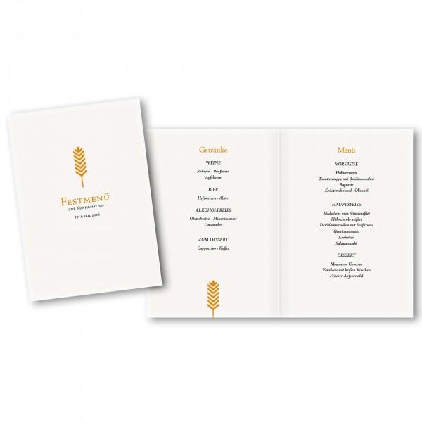 Menükarte DIN-A5 - Kartendesign Lilly