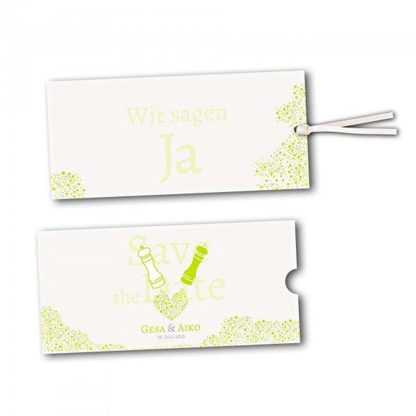 Schuberkarte - Kartendesign Wie Salz und Pfeffer