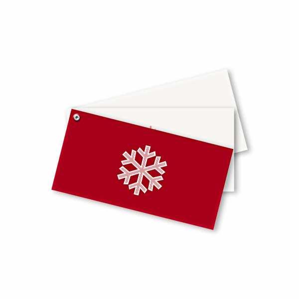 Weihnachtskarte – Fächerkarte DIN-lang Querformat im Kartendesign Weihnachtskristall