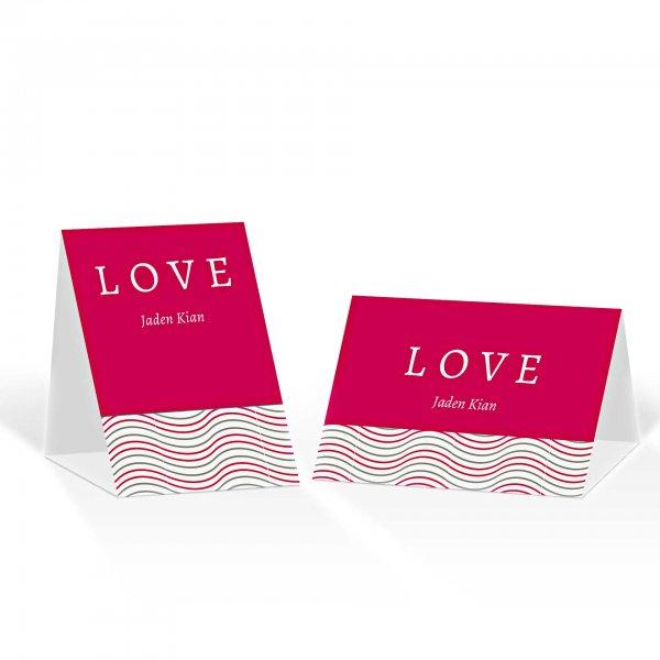 Platzkarte Aufsteller A6 – Kartendesign Love