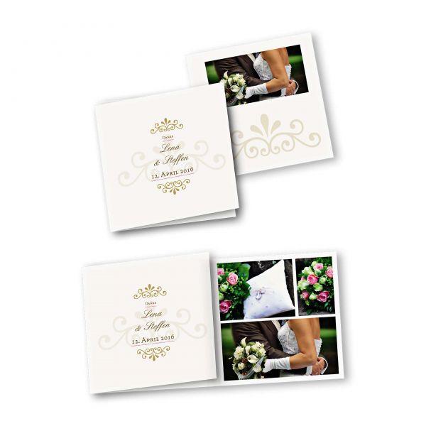 Danksagungskarte – 6-Seiter quadratisch Kartendesign Princess