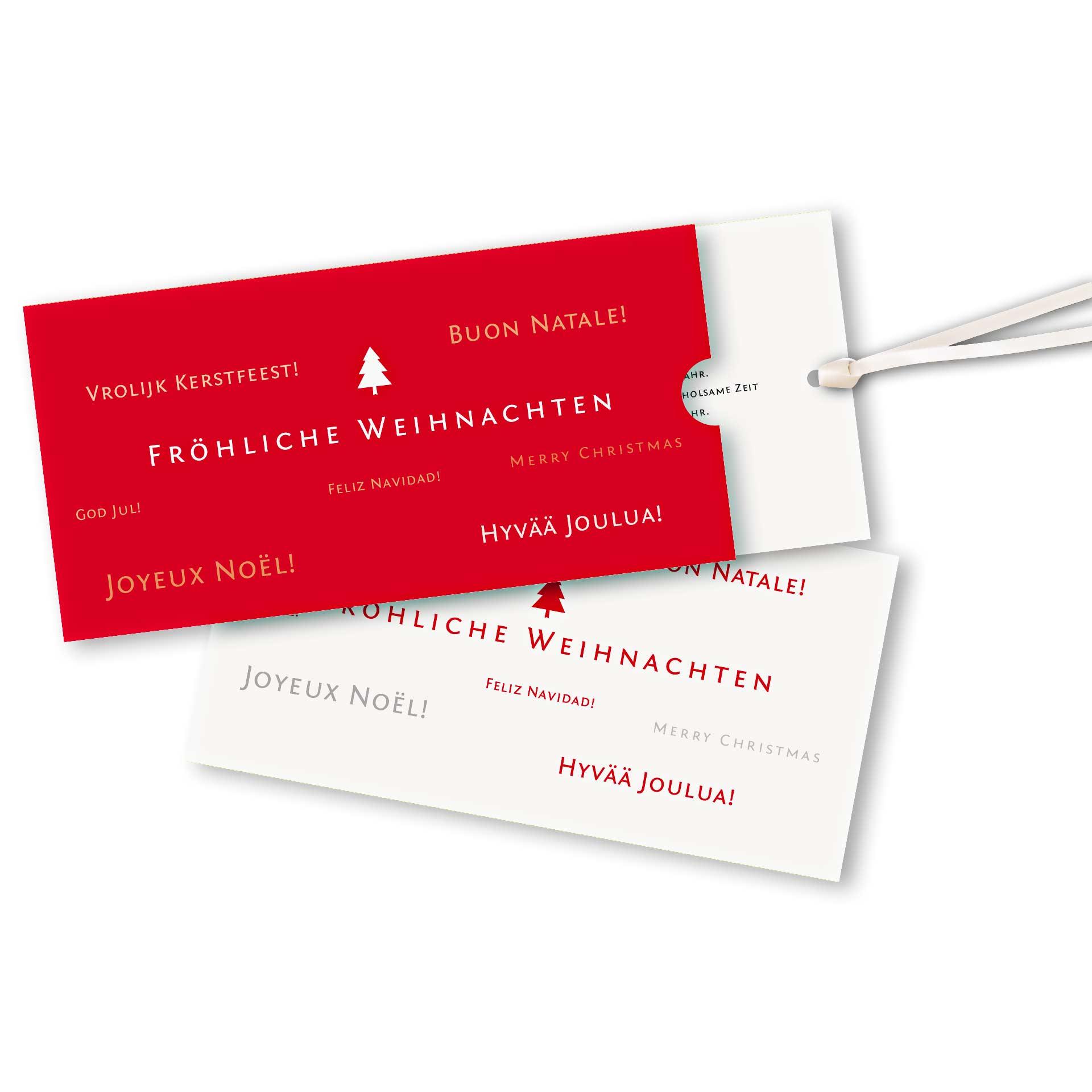 Weihnachtskarte schuber querformat design frohe - Niedliche weihnachtskarten ...