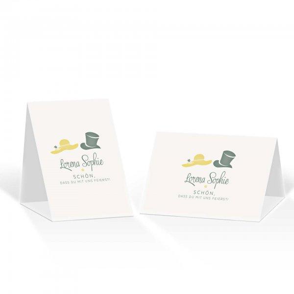 Platzkarte Aufsteller A6 – Kartendesign Dresscode Hochzeit