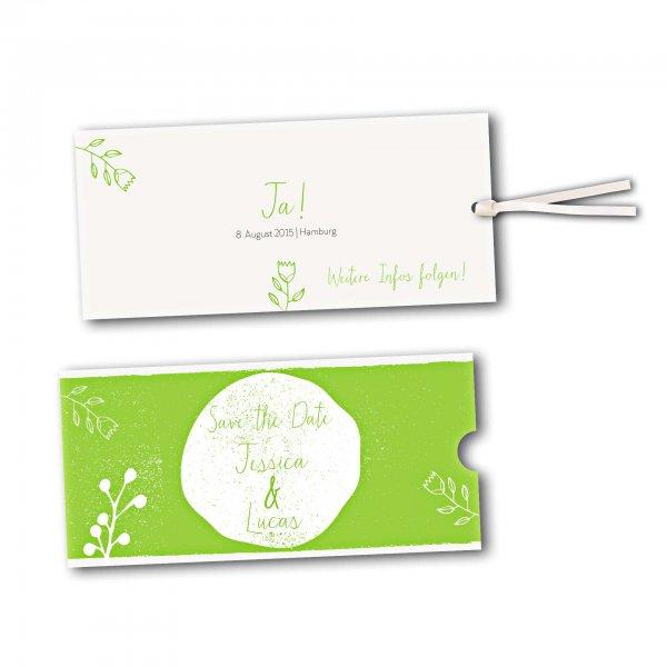 Schuberkarte - Kartendesign Retro Hochzeit Version 2