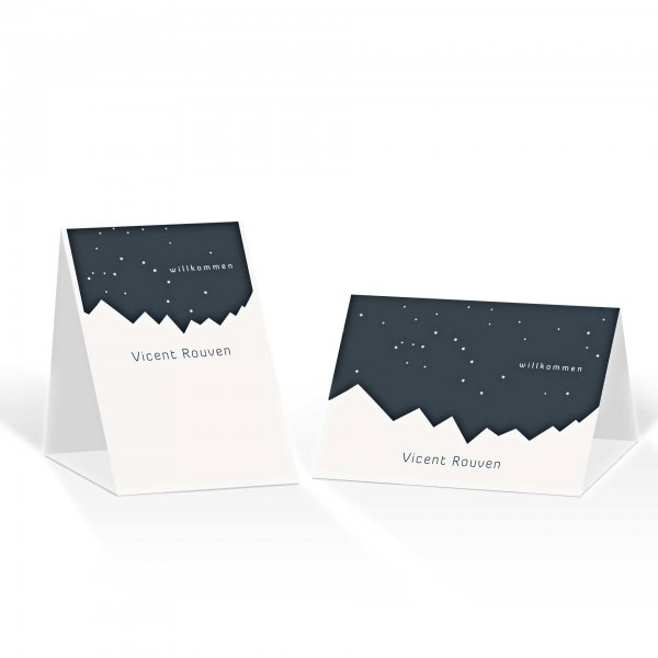 Platzkarte Aufsteller A6 – Kartendesign Bergknistern Version 1