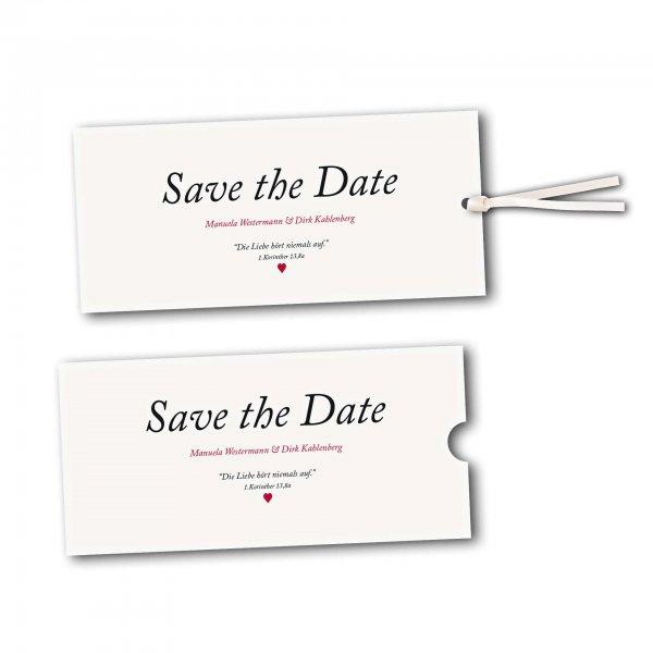 Schuberkarte - Kartendesign Kleines Herz zur Hochzeit