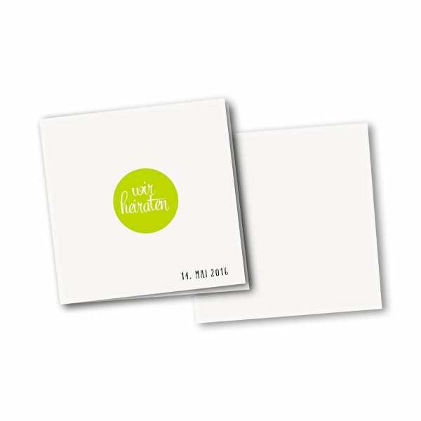 Einladungskarte – 4-Seiter quadratisch Kartendesign Reduzierte Hochzeitskarte mit Kreis