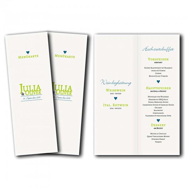 Menükarte – Kartendesign typografische Einladung Version 2