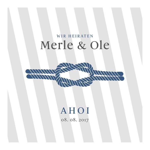 Mottohochzeit maritimes Design mit Seil