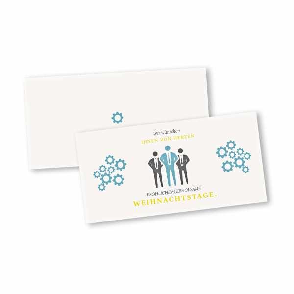 Weihnachtskarten Business.Weihnachtskarten 4 Seiter Din Lang Querformat Mit Kopffalz Kartendesign Business Weihnachtskarte Mann